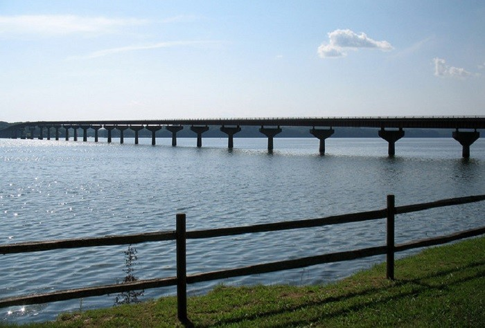 2. Anywhere along the Tennessee River.