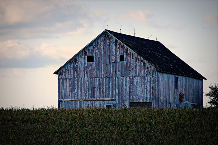 2. This old barn's weathered exterior gives it a certain character