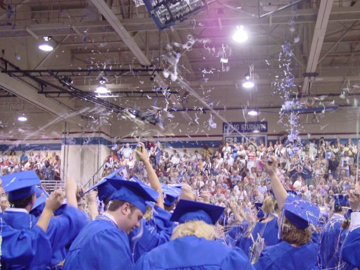 2. Iowa has the highest graduation rate