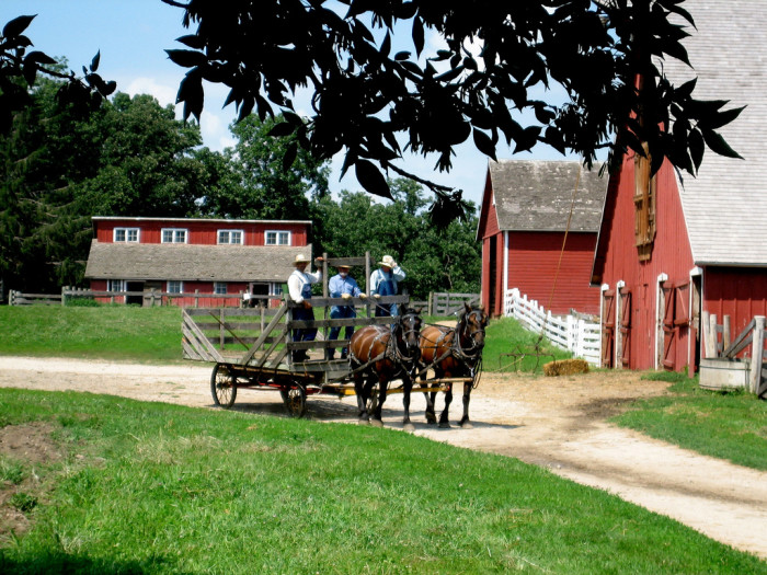 2. Step into the past at Living History Farms.