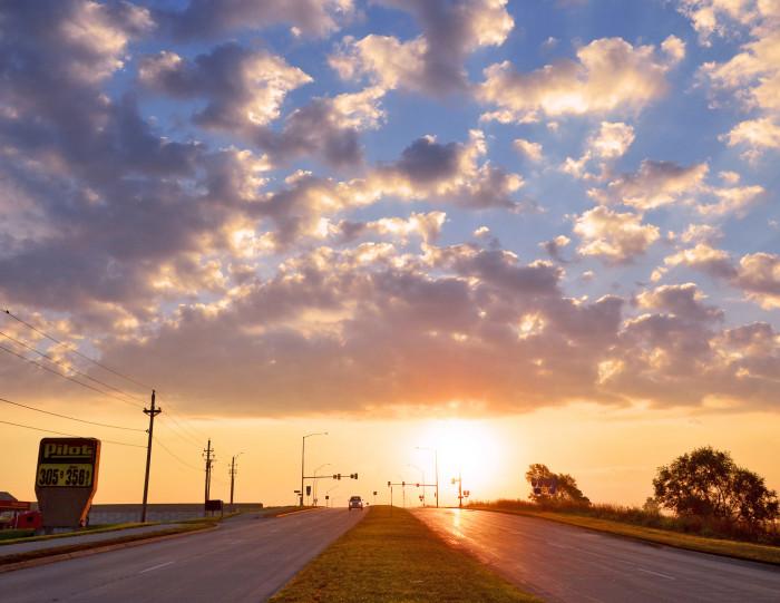 2. A beautiful dawn sky in Urbandale