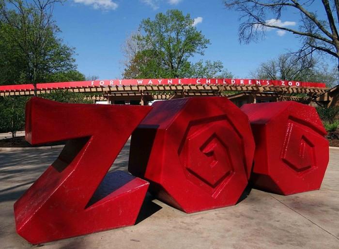 3) Fort Wayne Children's Zoo (3411 Sherman Blvd., Fort Wayne, IN)