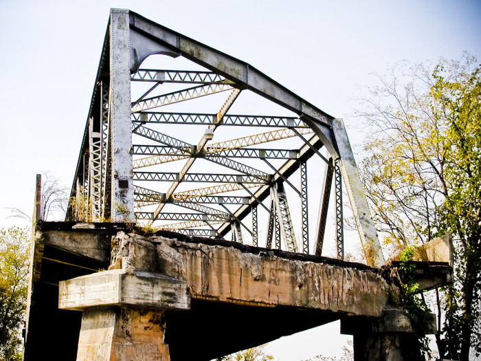 9) Old abandoned bridge --somewhere in Atlanta near Howell Mill