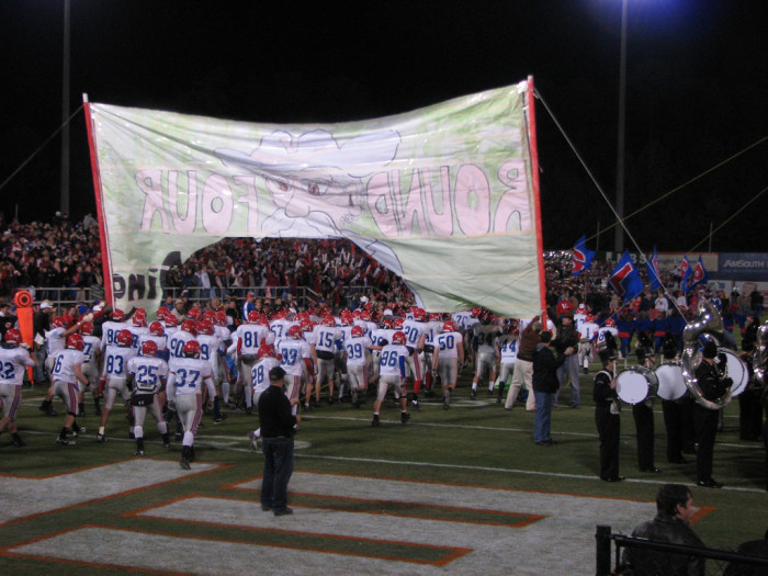 4. The town shut down every Friday night for the local high school football game.