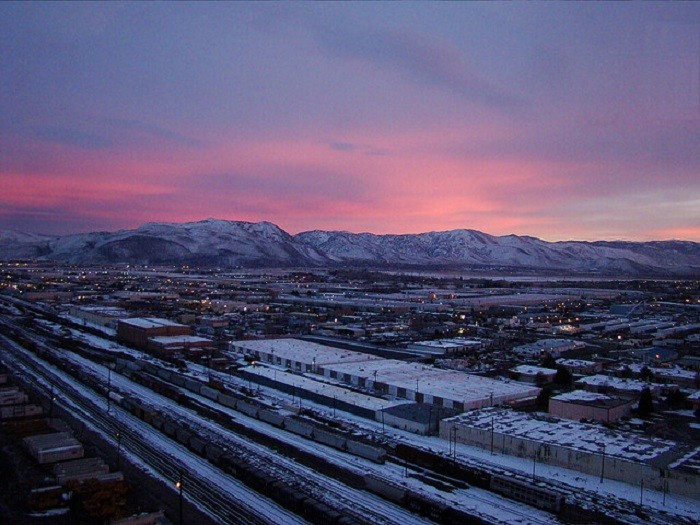 10. This MESMERIZING sunrise was captured outside a hotel room in the city of Sparks. The pretty pink sky over the majestic mountains is nothing short of PERFECTION!!!