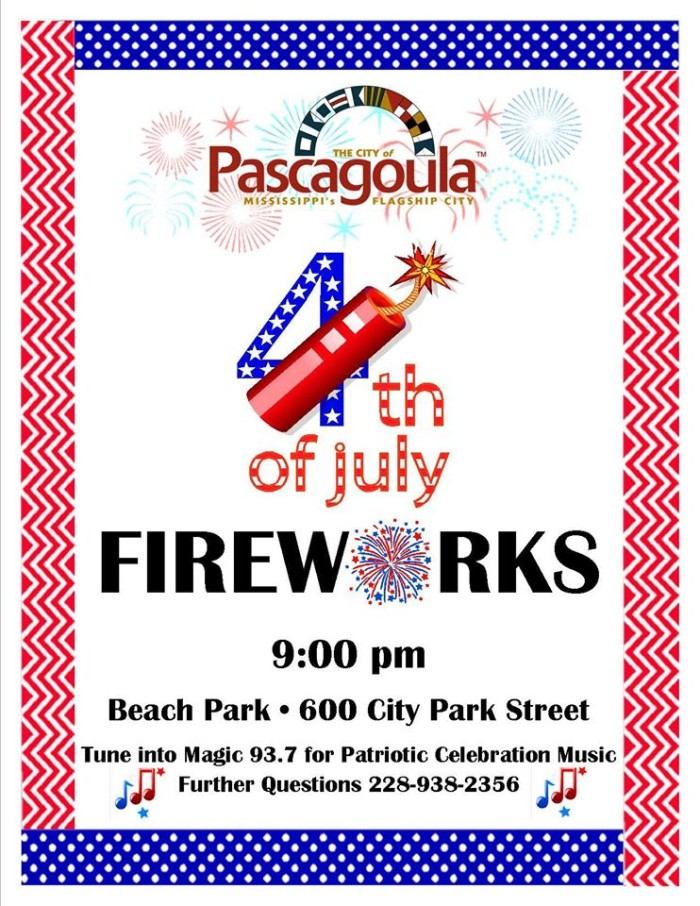 3. Pascagoula Fourth of July Fireworks Show