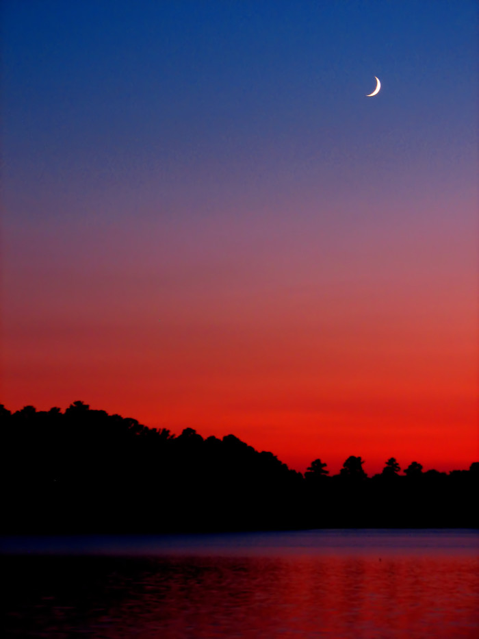 """3. """"Sunset and Crescent Moon"""""""