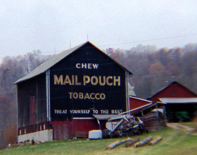 14) Mail Pouch barn along Ohio St. Rt. 145 between Lower Salem and Harriettsville.