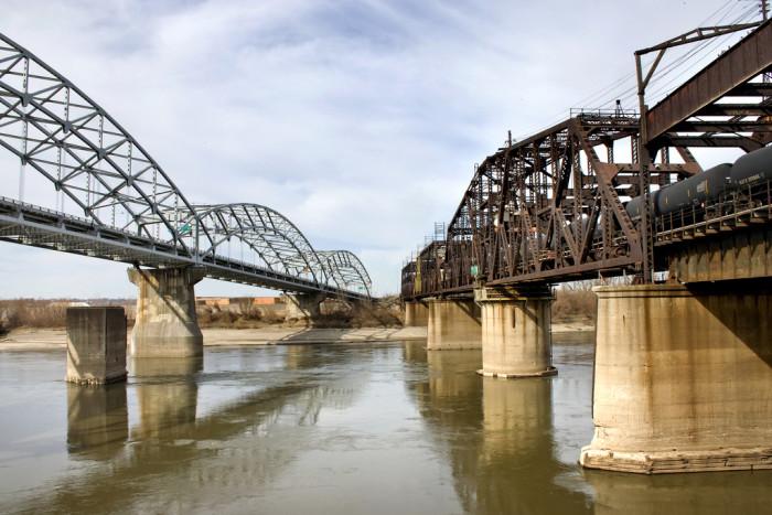 2.) Broadway Bridge & 3.) Hannibal Bridge (Kansas City)