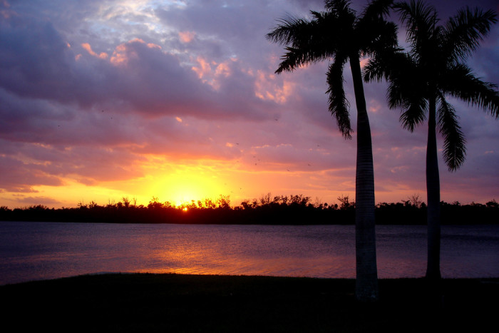 15. Sunset over the Intracoastal Waterway north of Delray Beach, FL