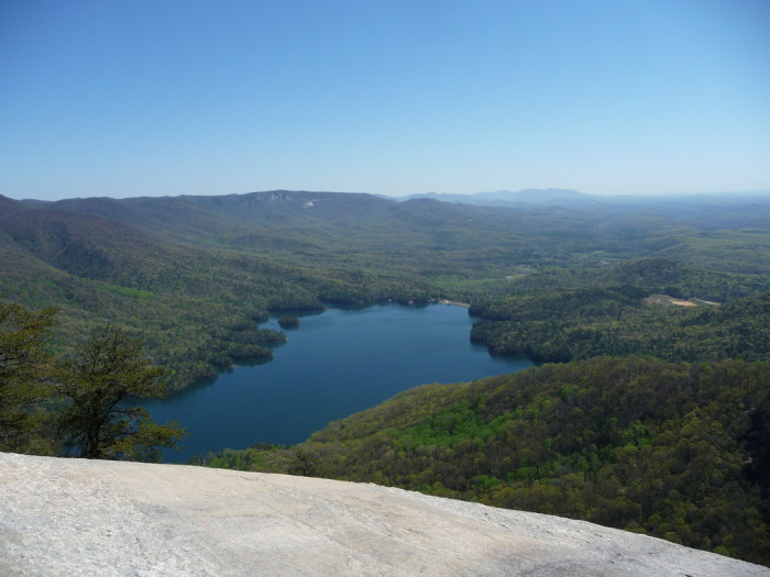2. Table Rock State Park is another memorable place in the Upstate. There's no place here where you could go wrong. There are waterfalls, bridges, and beautiful lookouts where you can see the world spread out below you.
