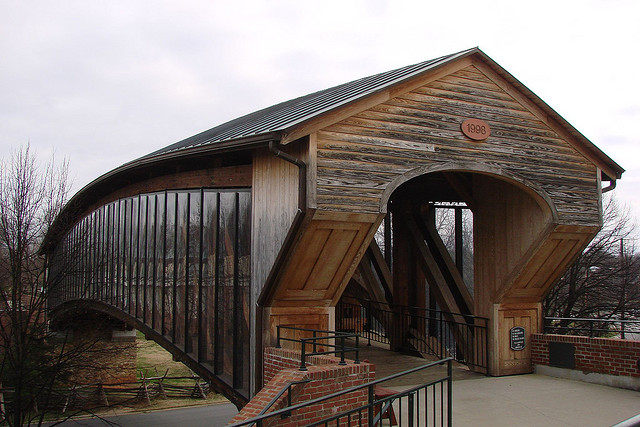 7. Old Salem Heritage Bridge, Winston-Salem