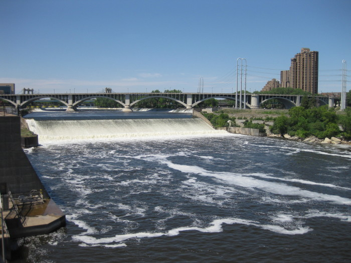 5. St. Anthony Falls in Minneapolis was the only major natural waterfall on the Upper Mississippi River until it collapsed in 1869 and was replaced by a concrete spillway.