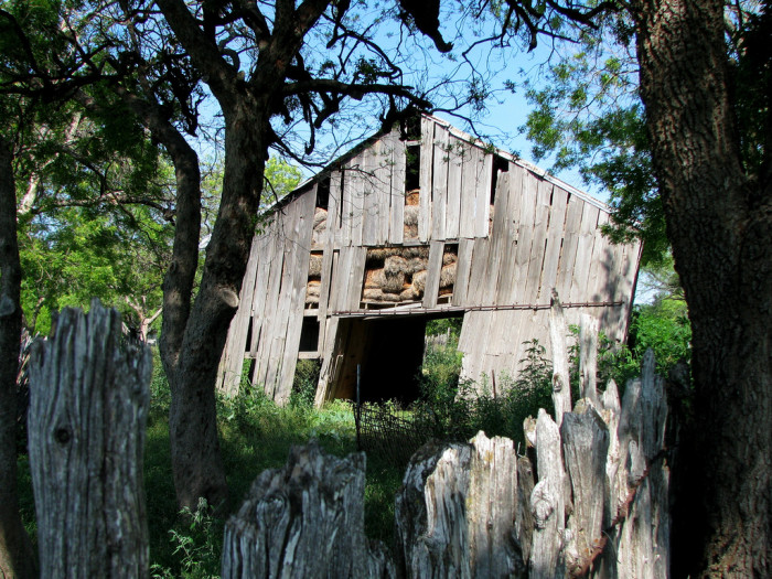 17) The Leaning Barn Of Bend, Texas