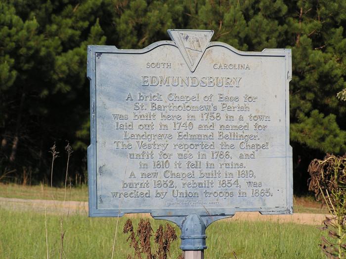 4. Edmundsbury, South Carolina