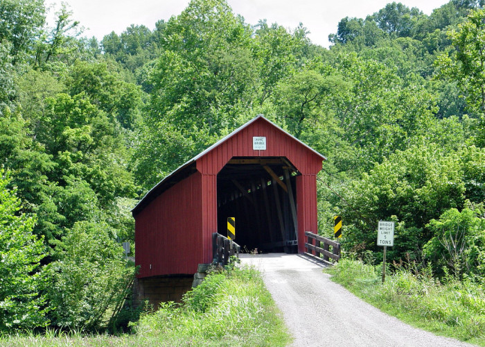 8) Hune covered bridge (Washington County)