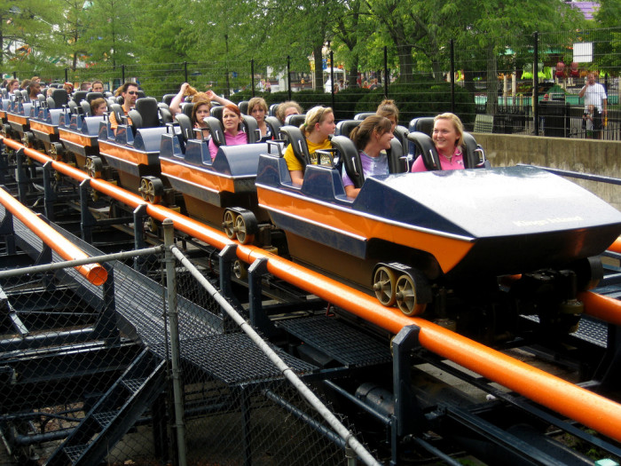 6) You remember when certain rides were the new kid on the block at King's Island, such as Vortex (pictured.)