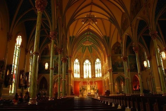 10) Cathedral St John the Baptist in Savannah, GA