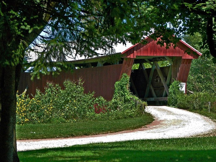12) Johnson Road covered bridge (Jackson County)