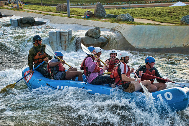 4. Take Dad down a manmade river, or zip line at The Whitewater Center