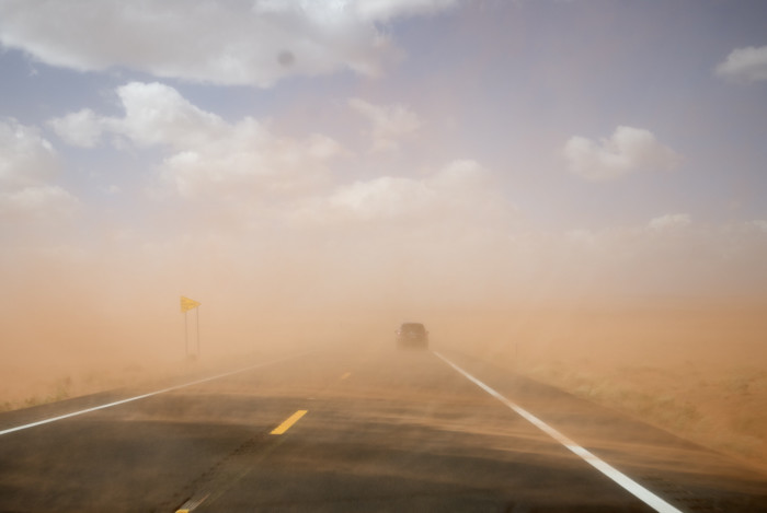 6. Driving in dust storms
