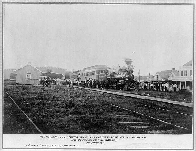 3) First Through Train from Houston to New Orleans, 1880