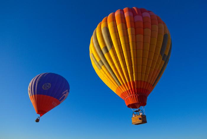 3. Go for a hot air balloon ride