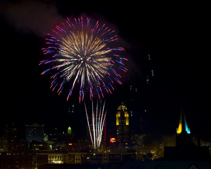 3. Fireworks in Des Moines