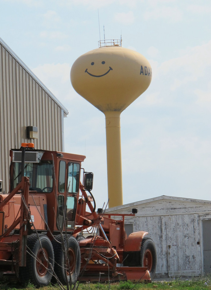 3. This smiley face water tower