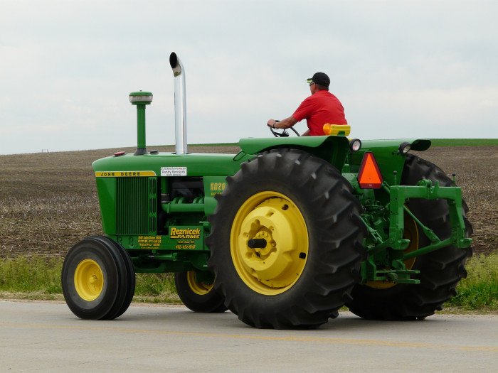 3. So do you drive your tractors to work in Iowa?