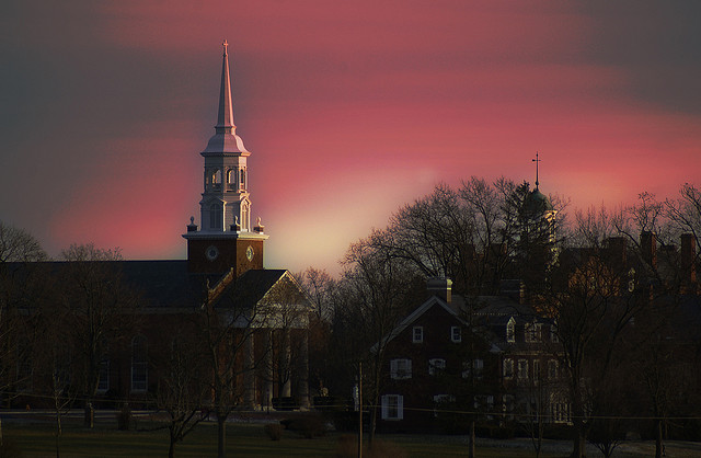 8. This rose-filled image of a Lutheran seminary in Gettysburg.