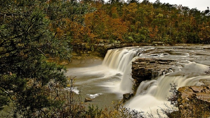 14. Little River Canyon Falls in Little River Canyon National Preserve - Mentone, Alabama.