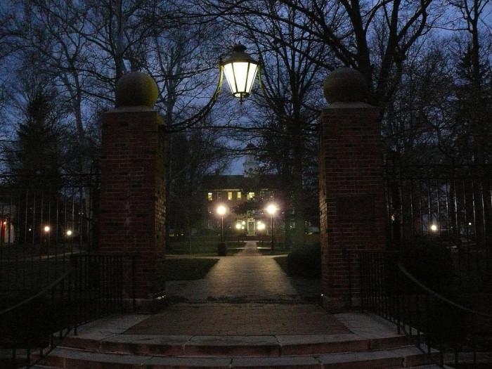 6) Ohio University (Athens) campus at dusk