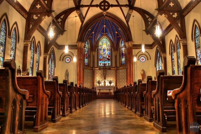 15) A brilliant capture of Saint Mary Cathedral in Austin.
