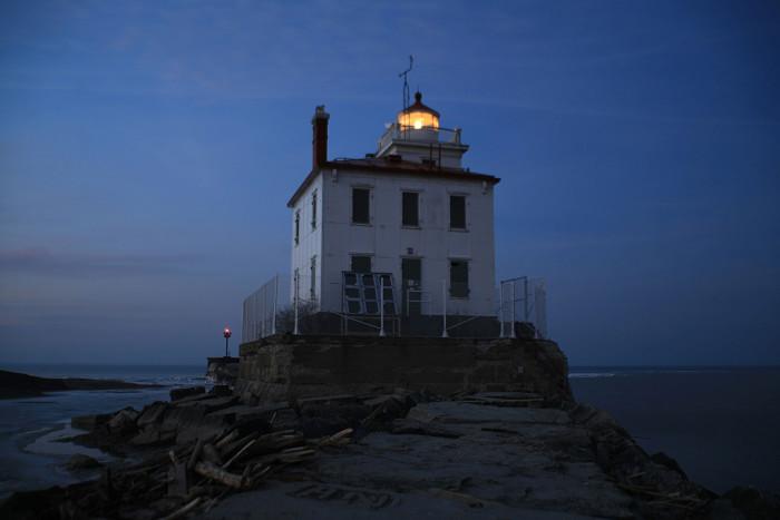 10) Lake Erie at twilight (Fairport Harbor)