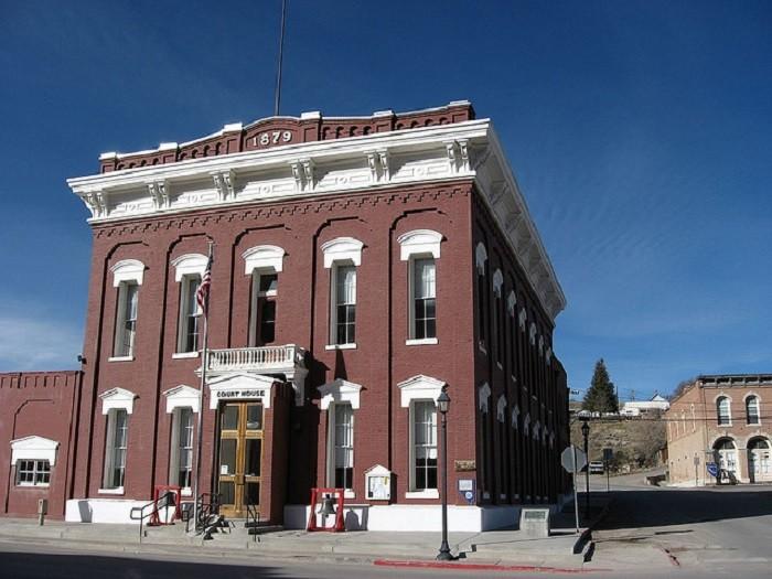 16. The Eureka County Courthouse in Eureka, Nevada.