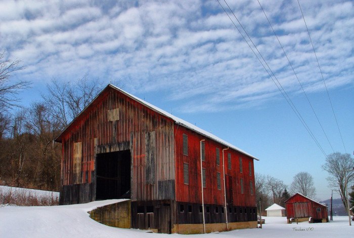 11) Old barn along the Muskingum River Road outside Marietta (Washington County)