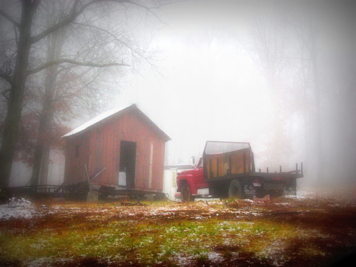 9) Misty winter morning countryside (Pike County)