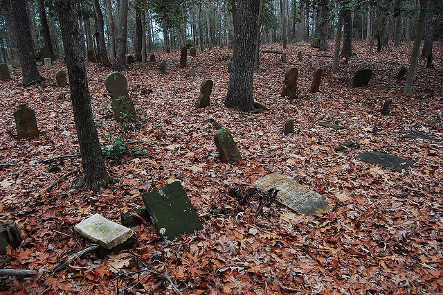 9. An old Scottish burial ground