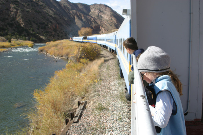 1.) A train ride along the scenic Royal Gorge Route