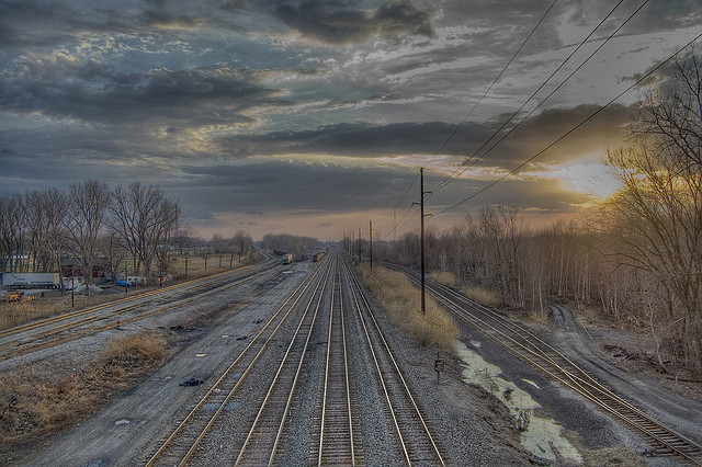 1. This breathtaking view of  railroad tracks in Erie.
