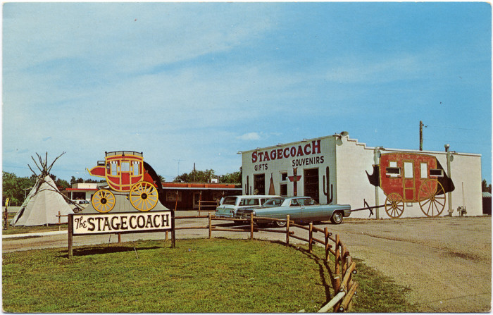 7.) Smith Center Stagecoach Gift Shop (c. 1960)