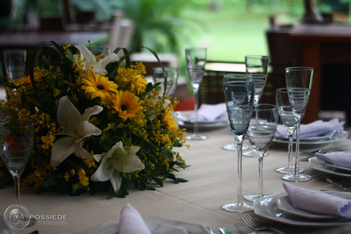 9. Setting a table with china and monogrammed napkins