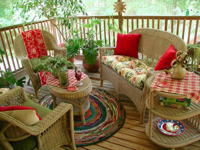 15. Back porch sittin'