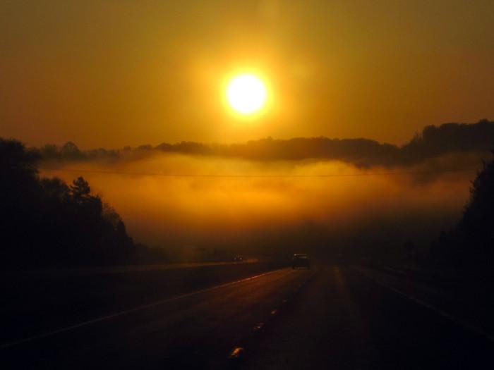 12) Misty morning sunrise along St. Rt. 32