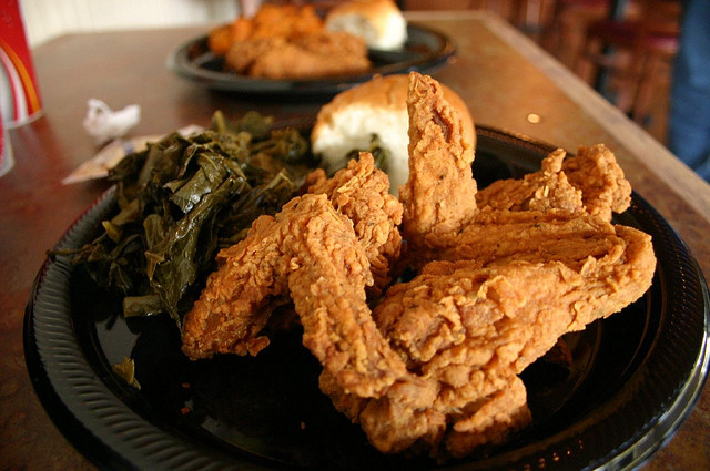 1) Fried chicken, chicken fried steak, and pretty much anything else under the sun that's fried.