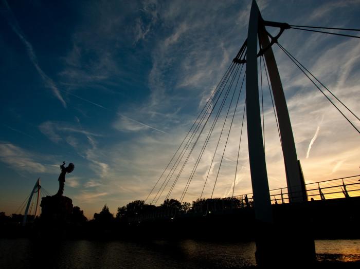 9.) Keeper of the Plains Bridge (Wichita)