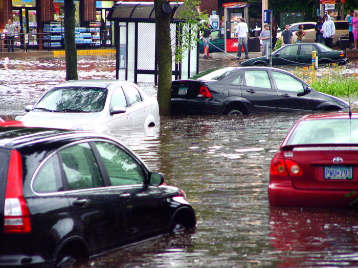6. Flooding is a natural disaster that you should always anticipate in the land of 10,000 lakes.