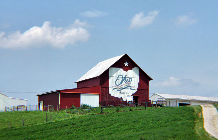 1) Bicentennial Barn just outside of McConnelsville (Morgan County)