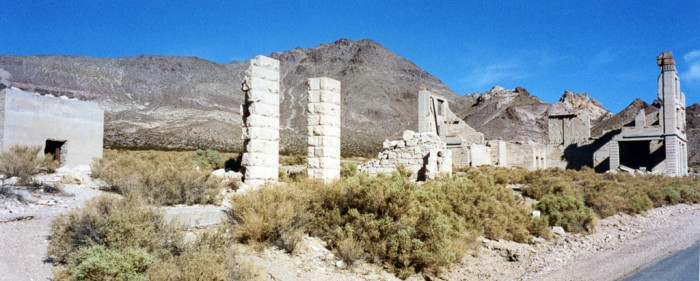 7. An abandoned building in Rhyolite, Nevada.